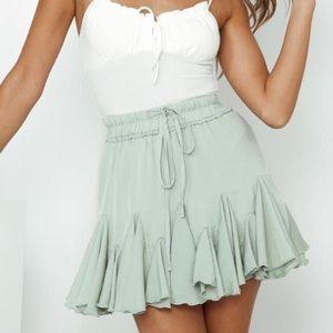Sage Mini Boho Skirt